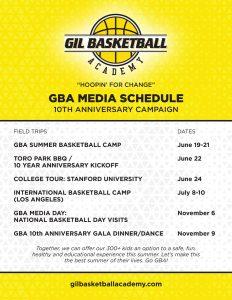 GBA Media Schedule