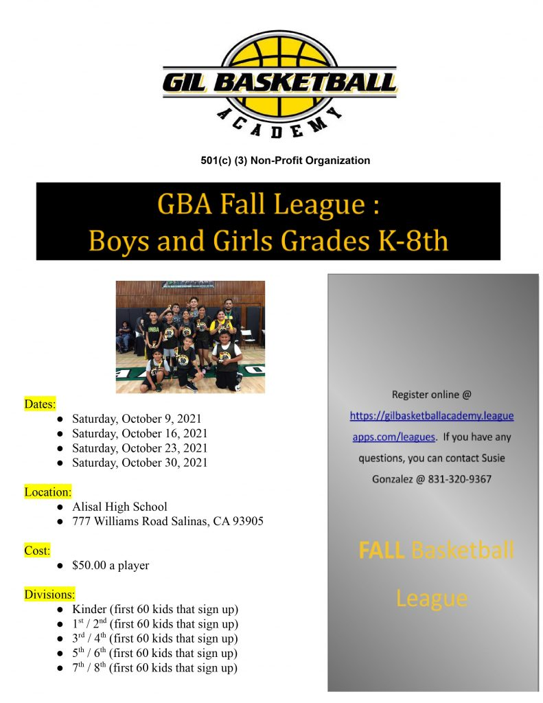 Fall League Flyer